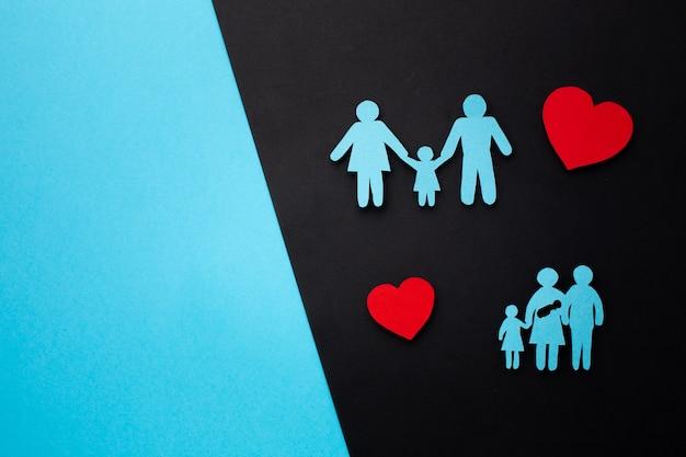 Famille De Papier Vue De Dessus Avec Espace Copie Photo gratuit