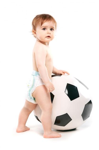 Fan avec un ballon de foot Photo Premium