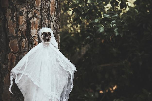 Fantôme sombre suspendu à un arbre Photo gratuit