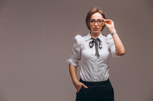 Femme d'affaires avec des émotions isolées Photo gratuit