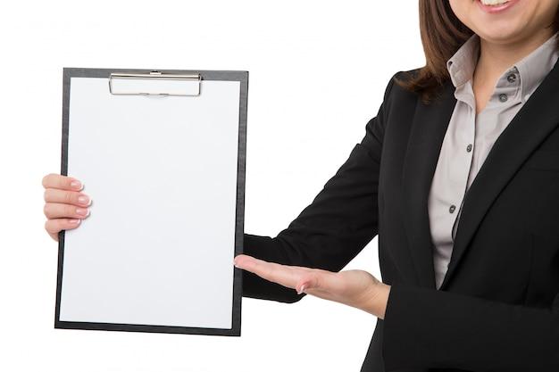 Femme Affaires, Presse-papiers Photo Premium