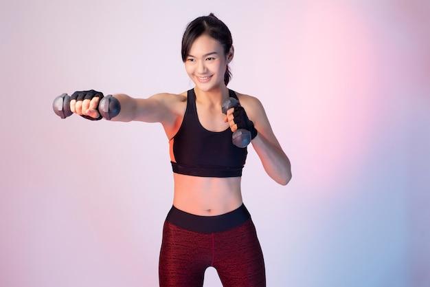 Femme Asiatique Fitnesses Belle Photo Premium