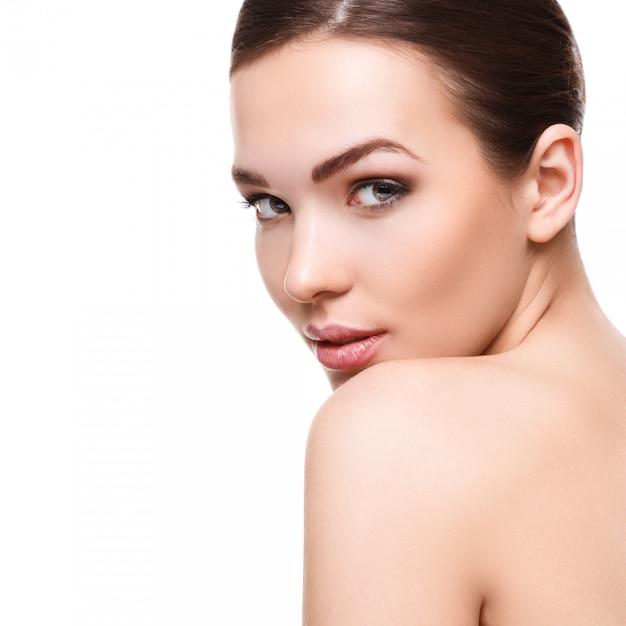 Femme Avec Beau Visage Photo Premium