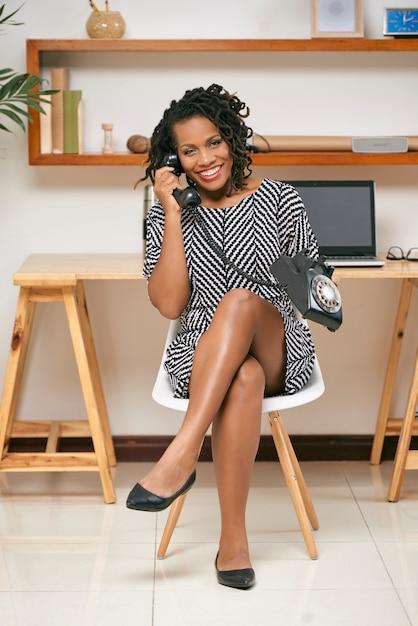 Femme, Conversation, Retro, Téléphone Photo gratuit
