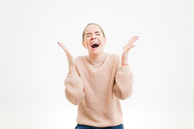 Femme crier Photo gratuit