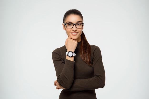 Femme Entrepreneur Confiante Souriant Photo gratuit