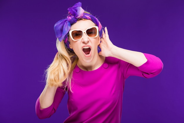 Femme à lunettes Photo Premium