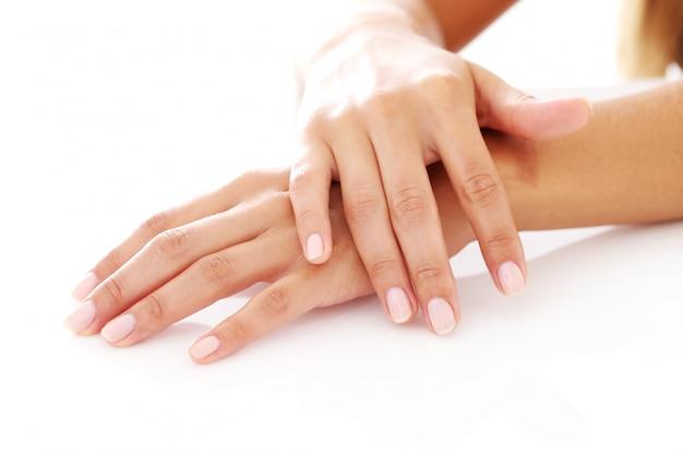 Femme, mains, manucure Photo gratuit