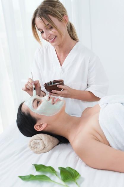Femme, Masque Facial, Spa Photo gratuit