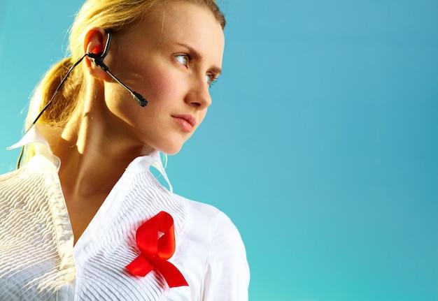 Femme de la santé des services d'affaires réceptionniste Photo Premium