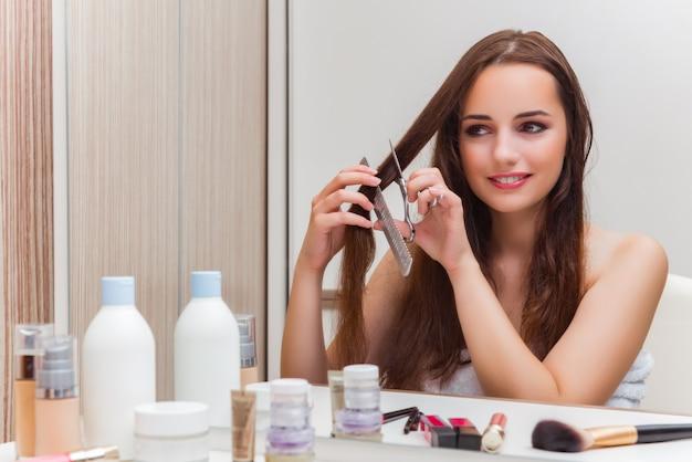 Femme Se Prépare Pour La Fête Photo Premium