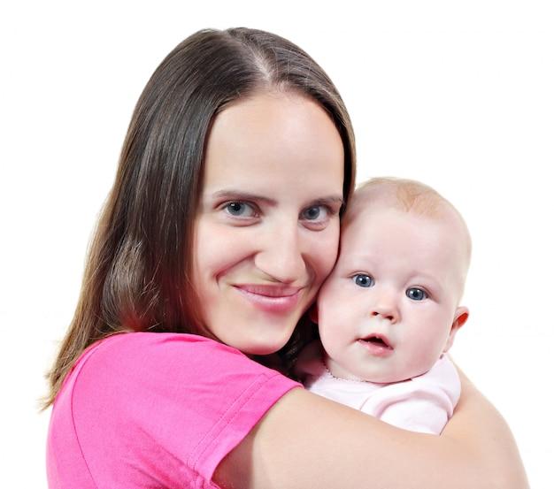 Femme et son bébé Photo Premium