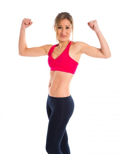 Femme de sport forte Photo Premium