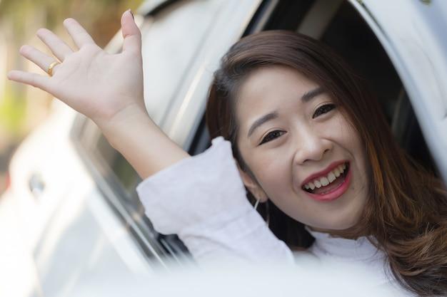 Femmes asiatiques en âge de travailler Photo Premium