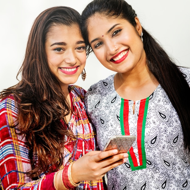 Femmes indiennes gaies Photo Premium