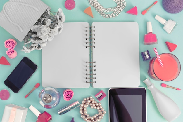 Festif fond avec cahier Photo Premium