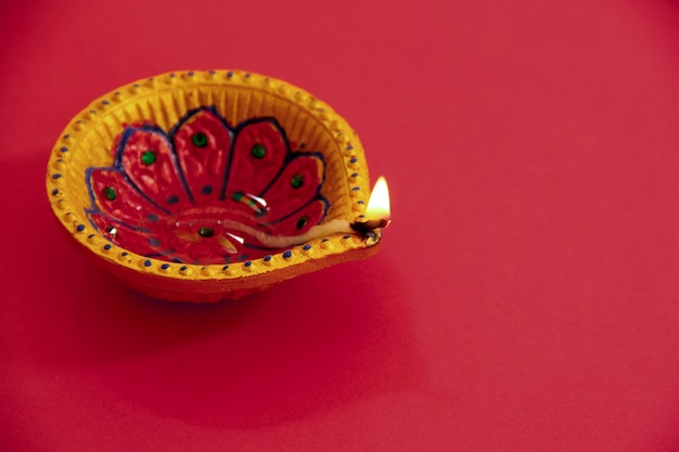 Festival indien diwali, lampe Photo Premium