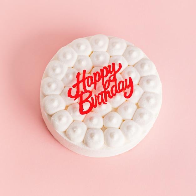 Fête anniversaire fond avec gâteau Photo gratuit