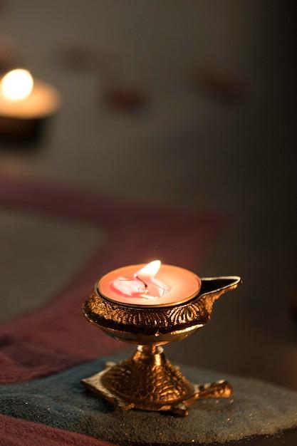 Fête De Diwali De La Tradition Des Lumières Photo Premium