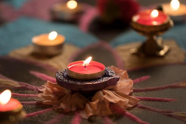 Fête De Diwali De La Tradition Des Lumières Photo gratuit