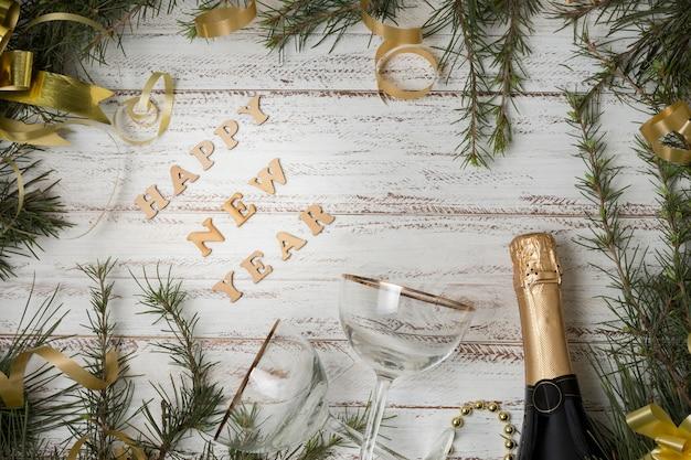 Fête Du Nouvel An Avec Champagne Photo gratuit