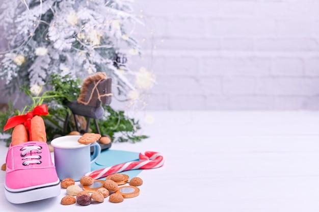 Fête hollandaise traditionnelle pour les enfants sinterklaas. vacances d'hiver en europe et aux pays-bas. Photo Premium