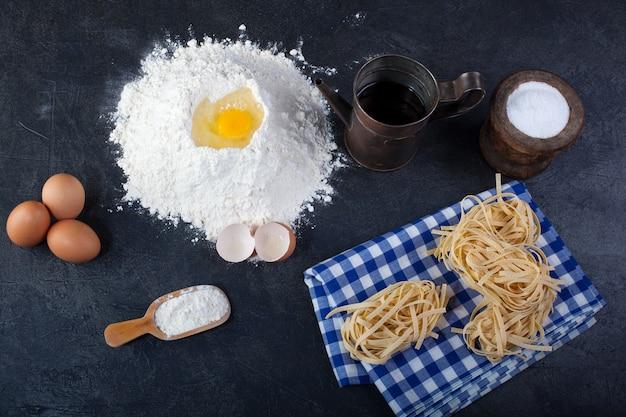 Fettuccine, Pâtes Italiennes Photo Premium