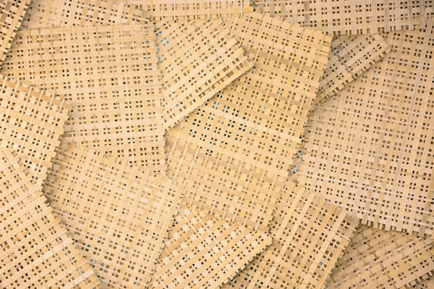 Feuille De Bambou Pour Le Fond. Modèle Minimal Simple Photo Premium