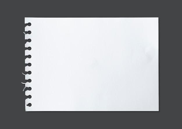 Feuille Blanche De La Texture Du Papier Pour Le Fond Avec Un Tracé De Détourage. Photo Premium