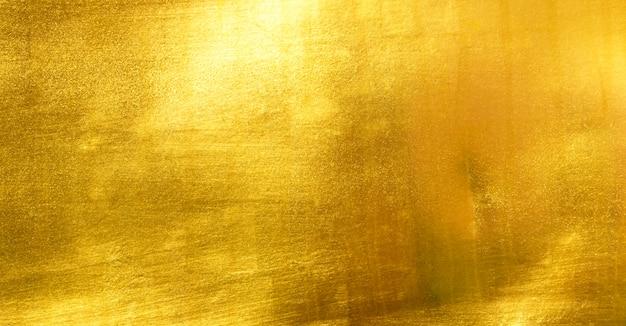 Feuille d'or jaune brillant Photo Premium