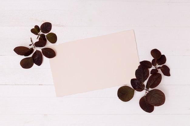 Feuilles brunes séchées avec espace de maquette Photo gratuit