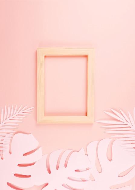 Feuilles de palmier coupe papier Photo Premium