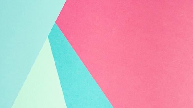 Feuilles de papier bleu et rose avec espace de copie Photo gratuit