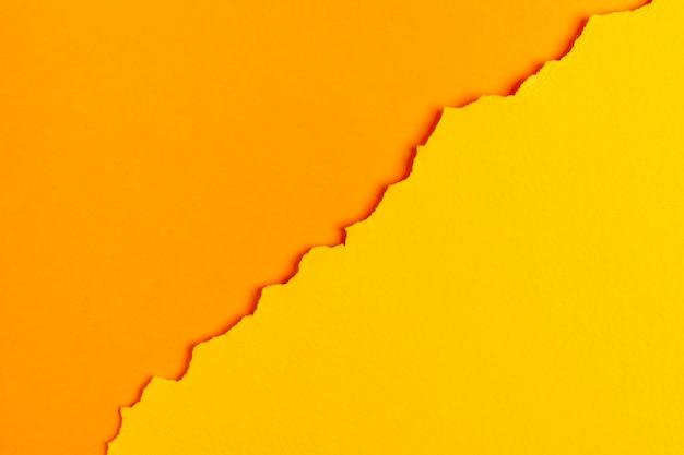 Feuilles de papier ton sur ton orange Photo gratuit