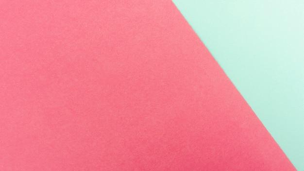Feuilles de papier vert menthe et rose Photo gratuit