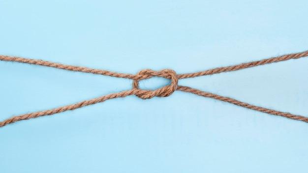 Ficelle Solide Corde Beige Double Noeud Photo Premium