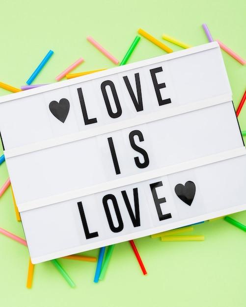 Fierté Lgbt Société Jour Amour Est Amour Photo gratuit