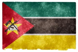 Fierté Mozambique Flag Grunge Photo gratuit