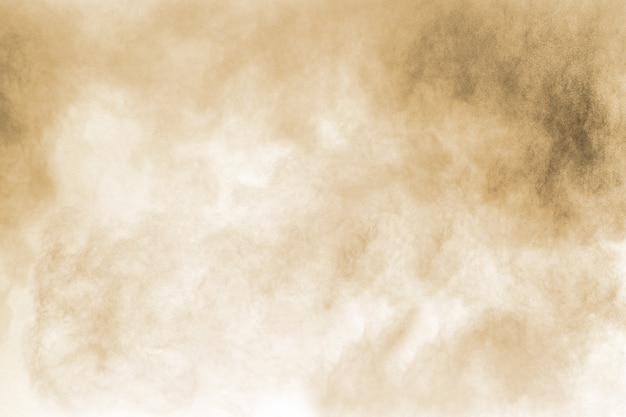 Figer le mouvement de l'explosion de poussière brune. Photo Premium