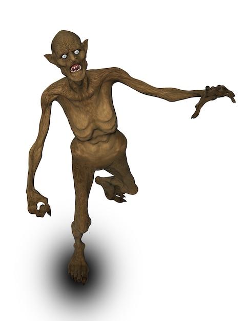 Figure de démon maléfique halloween 3d Photo gratuit