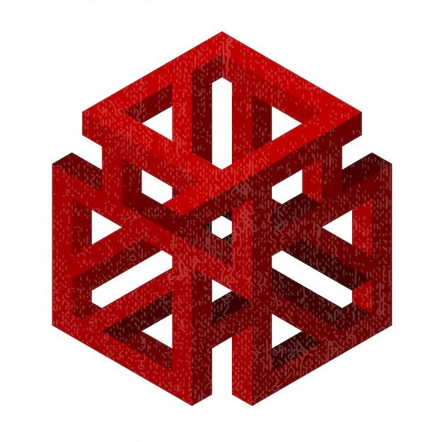 Figure géométrique abstraite Photo Premium