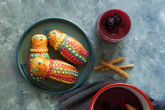 Figures de pain équatorien Photo Premium