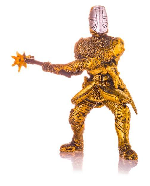 Figurine d'un chevalier médiéval isolé Photo Premium