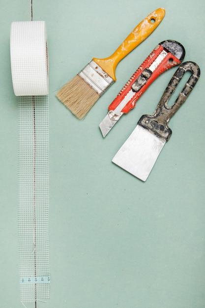 Filet De Renforcement Et Instruments Photo Premium