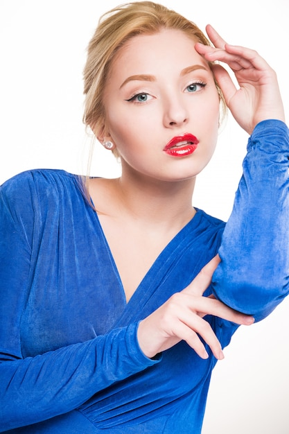 Fille en robe Photo Premium