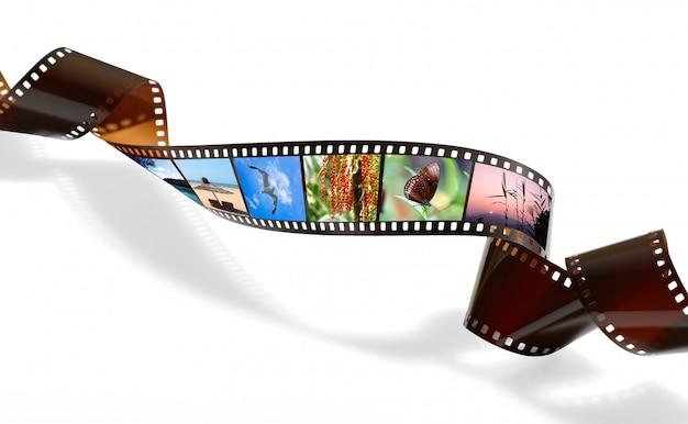 Film tordu pour l'enregistrement photo ou vidéo Photo Premium