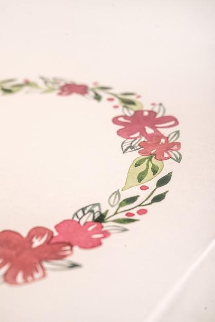 Fin, Haut, Dessiné, Fleur, Cadre, Acrylique, Peinture Photo gratuit