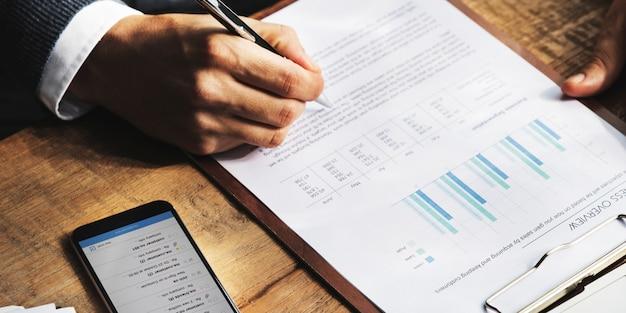 Financement des entreprises comptabilité concept bancaire Photo Premium