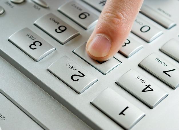 Finger Presses Figure Photo Premium