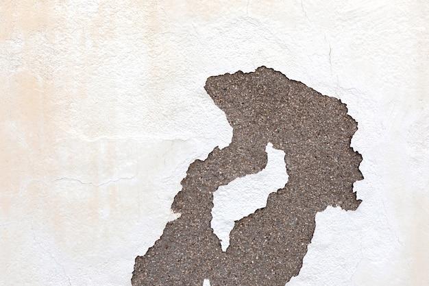 Fissure dans un mur sur une surface de ciment Photo Premium